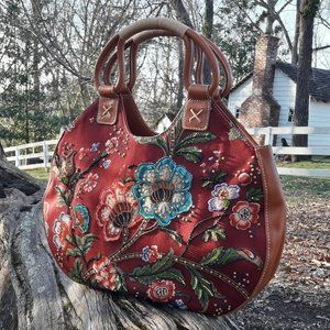 Boho Vintage Beaded Handbag Purse isabella fiore